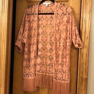Pink Kimono Cardigan(M)